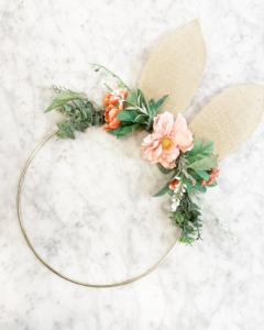 Rustic Chic Bunny Wreath