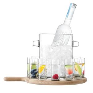 LSA International Paddle Vodka Serving Set and Oak Paddle