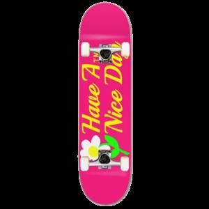 Zumiez ATM Nice Day 7.75 Pink Skateboard Complete