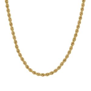 "Paris Jewellers Rope Chain 20"" Yellow Gold"