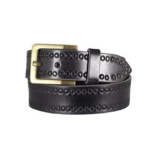 BOL Women's Circle Tooled Leather Belt